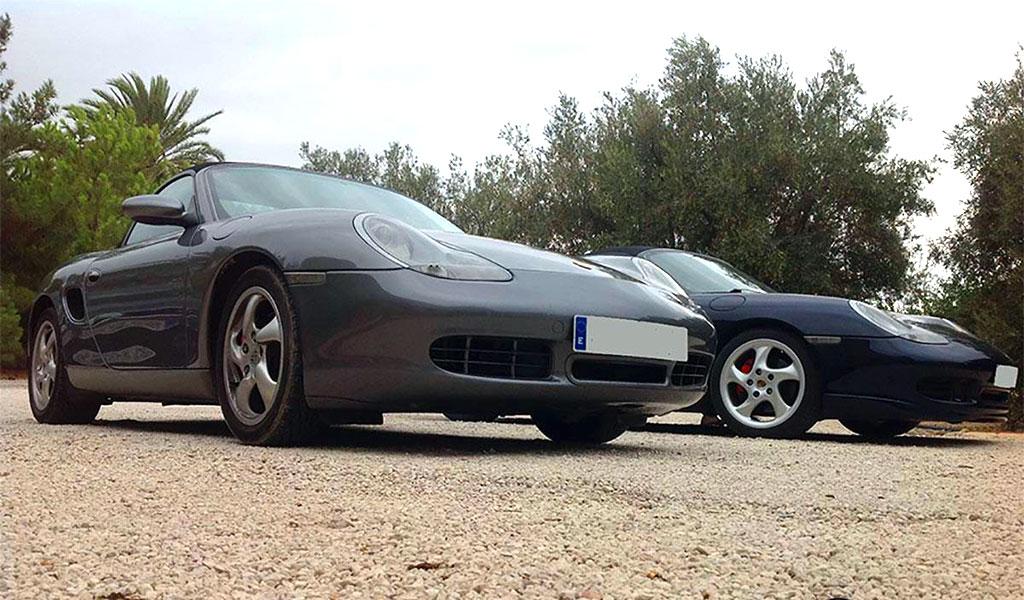 Resultado final de un Proceso de Detallado Completo realizado en 2 Porsche Boxter 996