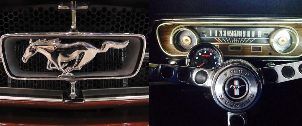 Emblema y Salpicadero de Ford Mustang Fastback del 65