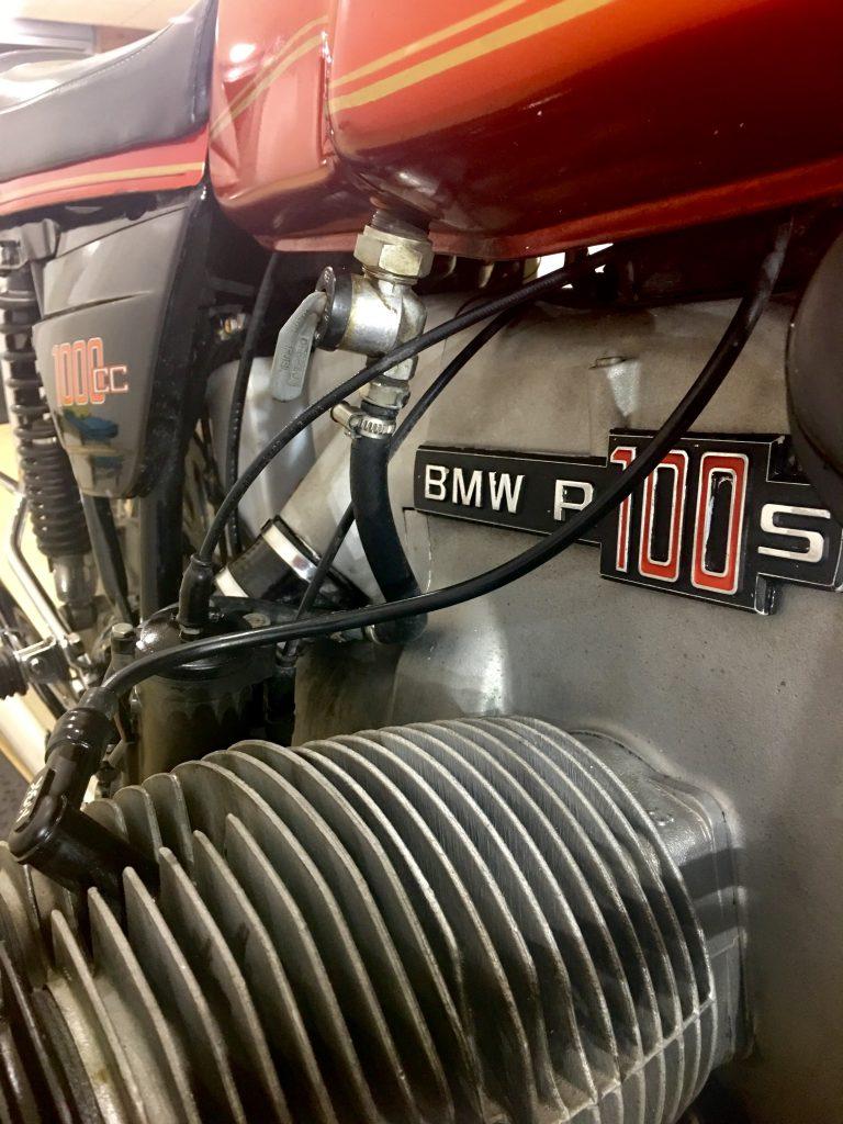 Bloque motor de una BMW R100S del 77
