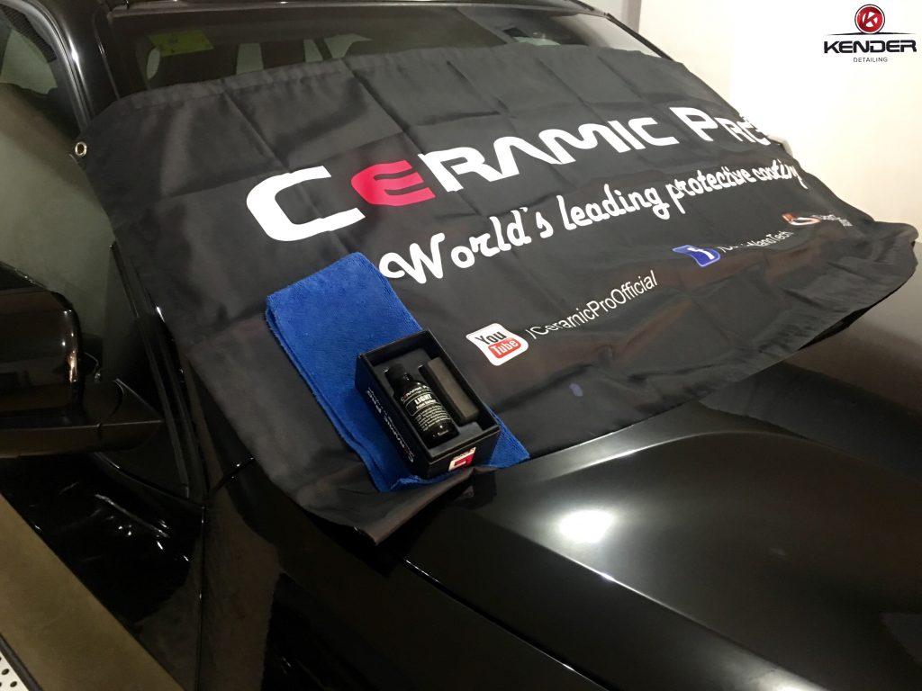 Kit Coating Ceramic Pro Light utilizado para proteger la pintura de nuestro X5.